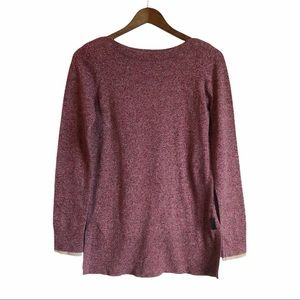 ROOTS Cozy Soft Stretchy Long Sleeve Scoop Neck Sweater Shirt Top Maroon